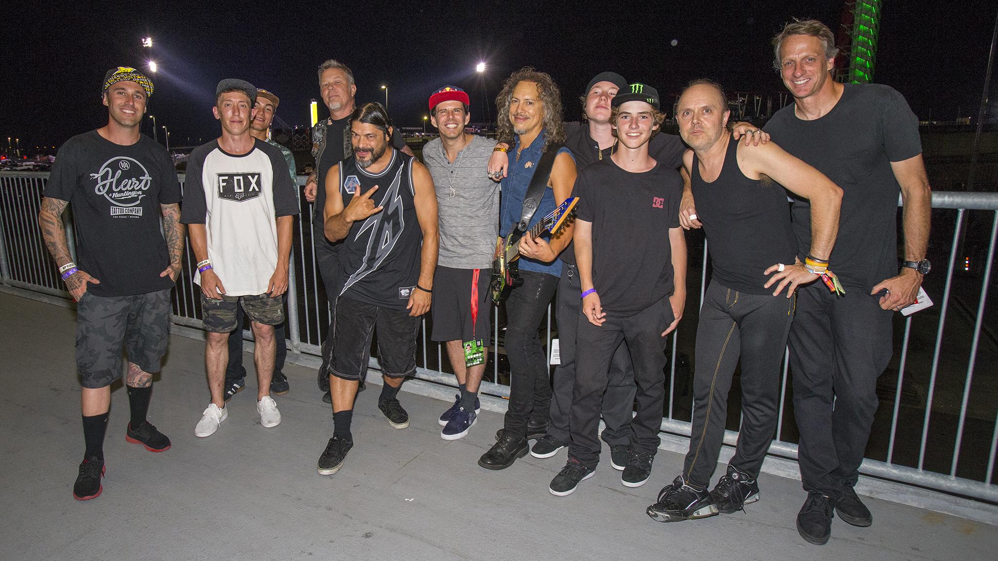 Hawk, Dhers meet Metallica