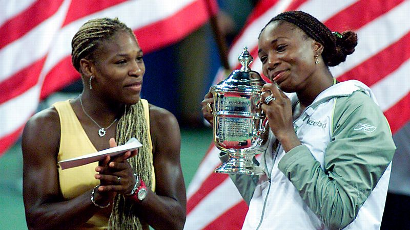 2001 US Open final, Venus wins 6-2, 6-4