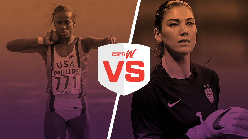 espnW Best Female Athlete Matchup Jackie Joyner Kersee Hope Solo