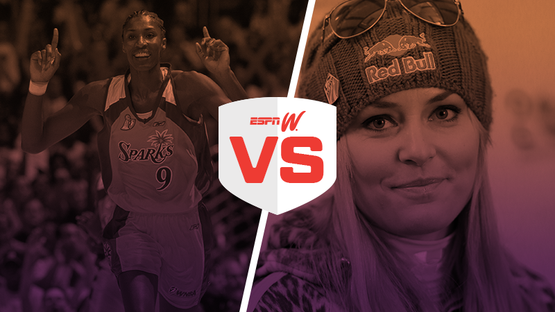 espnW Best Female Athlete Matchup Lisa Leslie Lindsey Vonn