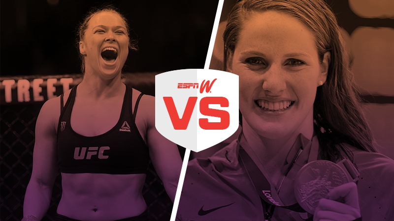 espnW Best Female Athlete Matchup Ronda Rousey Missy Franklin