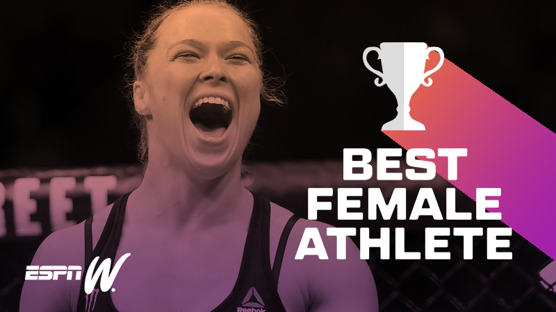 best female athlete - Ronda Rousey