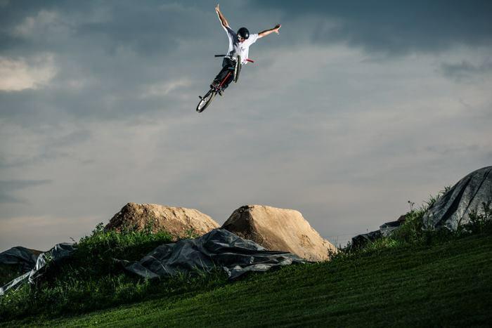 BMX rider Zane Bradley