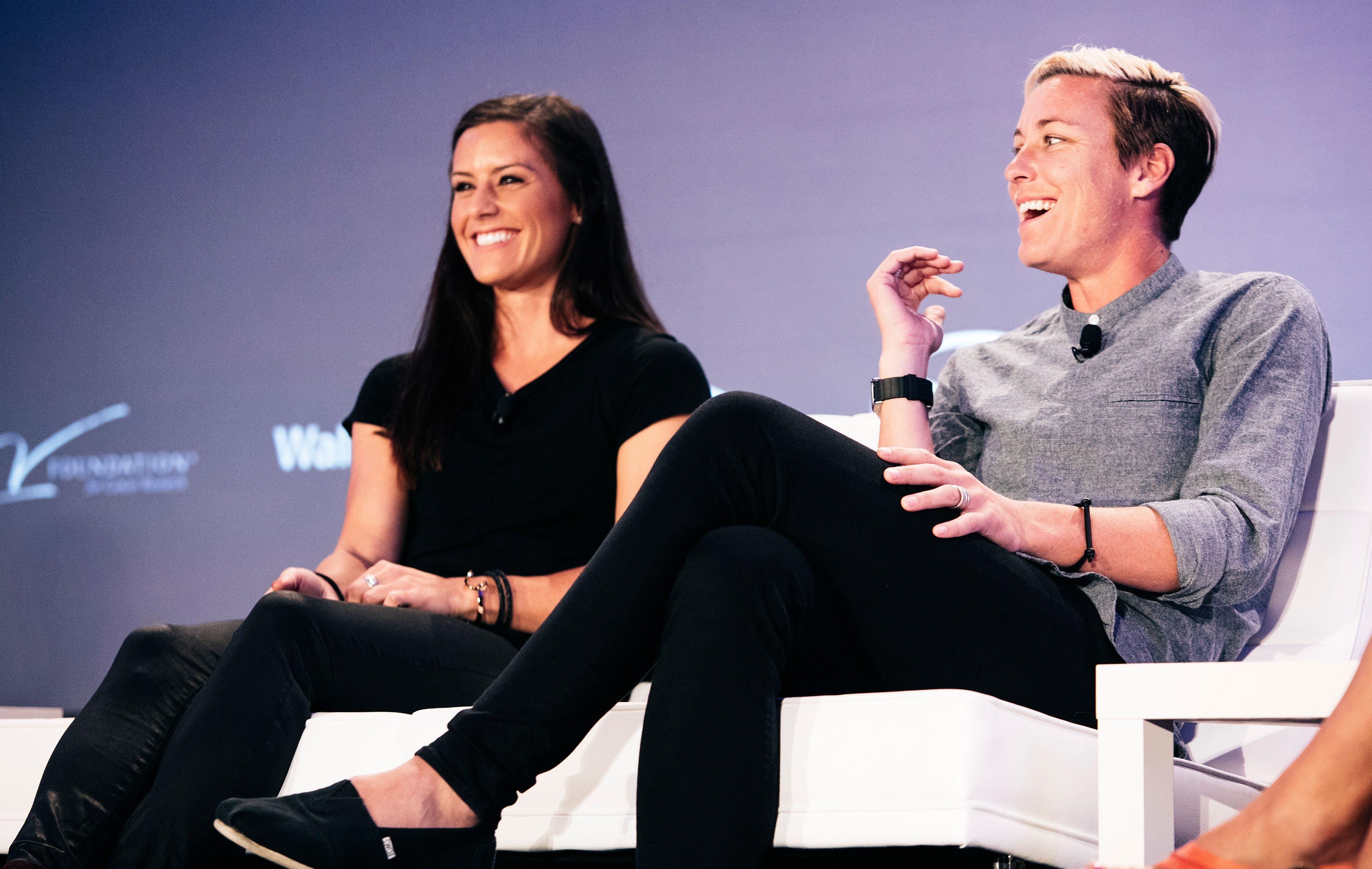 2015 espnW: Women  Sports Summit: Ali Krieger and Abby Wambach