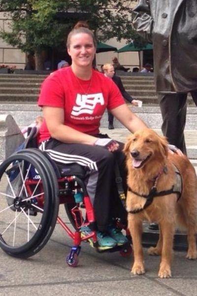 Christy Gardner with her dog
