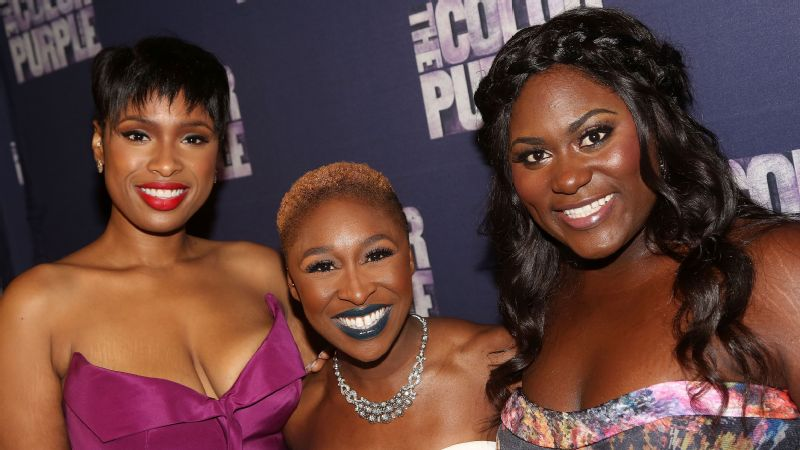 Jennifer Hudson, Cynthia Erivo and Danielle Brooks at the opening night after party for The Color Purple on Broadway at the Copacabana on December 10, 2015, in New York City.
