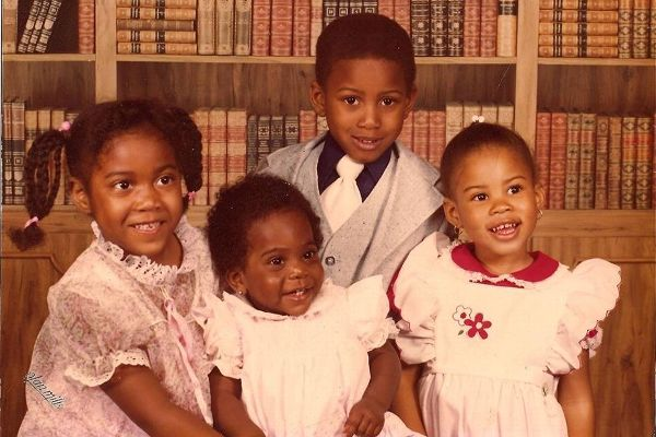 From left, author DaMaris Hill, her sister Edith, Bardell Berry, and Hill's cousin Brandi.