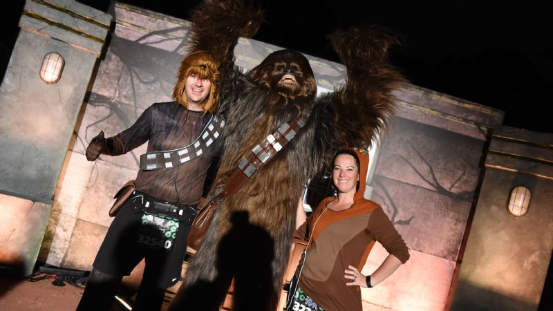 The Wookiees were reunited with Chewbacca during the Star Wars 10K.