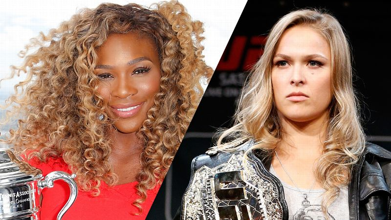 Serena Williams and Rona Rousey