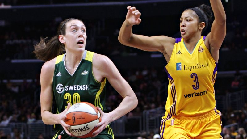 Breanna Stewart and Candace Parker