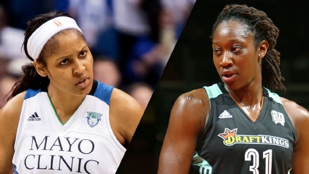 Maya Moore and Tina Charles