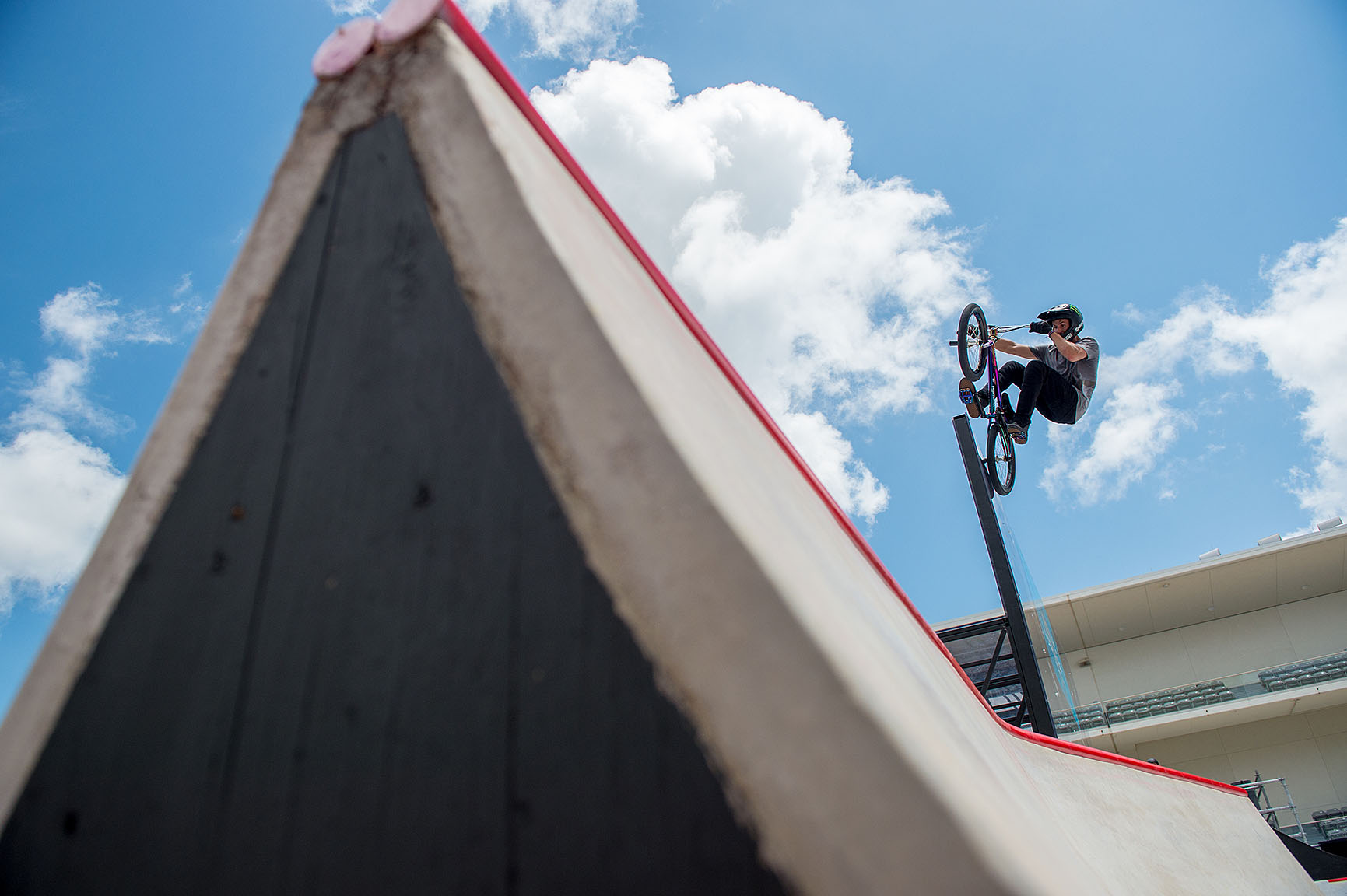 Scotty Cranmer has blocked the X Games BMX Park three-peat attempts of others (Dave Mirra in 2006 and Daniel Dhers in 2009 and 2012) on his way to gold medal wins of his own. After earning bronze in 2015, his ninth Park medal, Cranmer tied Mirra's record for the most total medals in the discipline.
