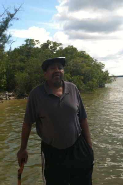 Dennis Graham Jr. in the Everglades on February 2013.