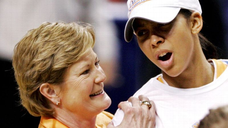Pat Summitt and Candace Parker