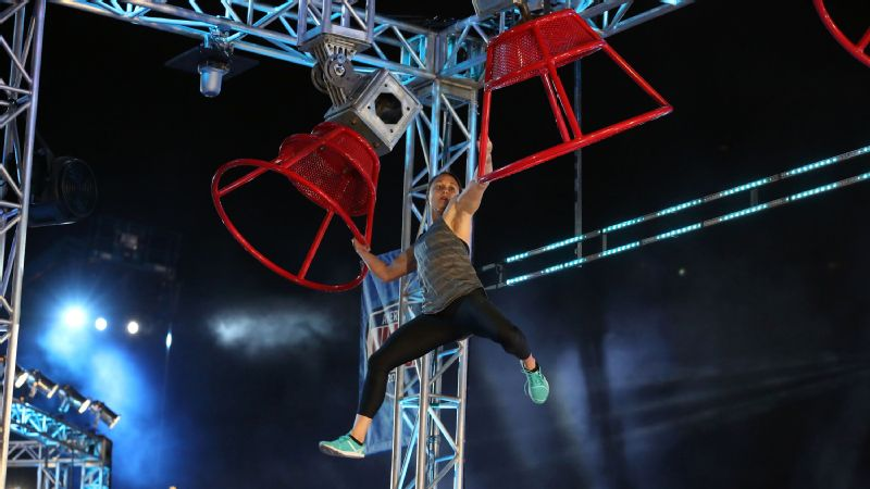 Erica Cook competes in the Atlanta qualifying round of American Ninja Warrior.