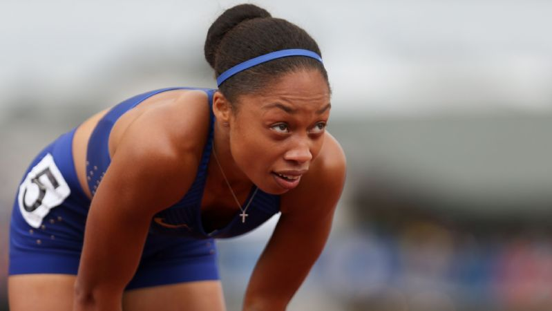 Allyson Felix (200 meter finals at Olympic trials)