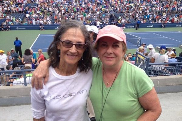 Gordon and her longtime doubles partner Donna Young at last year's US Open.