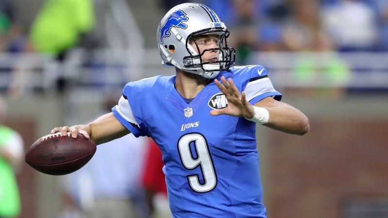 Lions QB Matthew Stafford is having quite the season -- he's had seven touchdowns in three weeks.