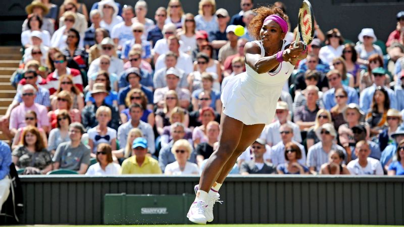 Serena Williams at Wimbledon in 2012.