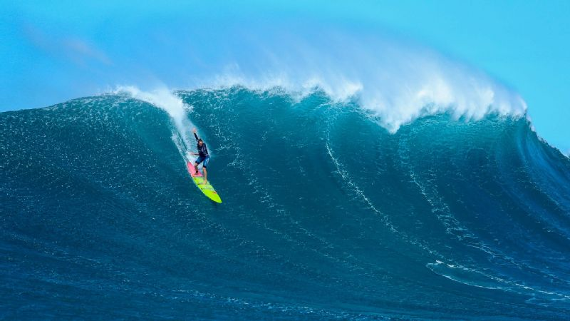 The pressure comes from within. I wanted to put on a good show and make sure we represented women well, said Paige Alms, shown here, winner of the Pe'ahi Women's Challenge.