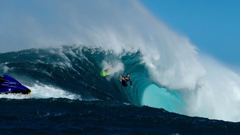 The wind during the Pe'ahi Women's Challenge made the conditions really dangerous, Paige Alms, shown here, said.