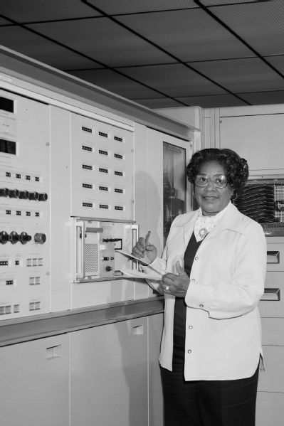 Mary Jackson working at the Langley Research Center.