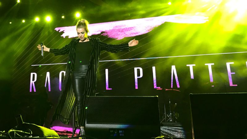Rachel Platten performs at the AT&T Playoff Playlist concert series as part of the College Football Playoff.