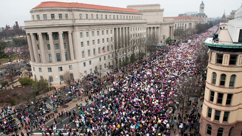 A view of Pennsylvania Avenue in Washington, D.C., on Saturday during the Women's March on Washington.