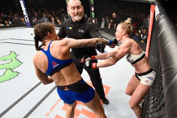 Representatives for Holly Holm have requested that the New York State Athletic Commission review referee Todd Anderson's failure to deduct points from Germaine de Randamie for throwing punches after the bell in last weekend's UFC 208 main event.