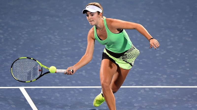 On Wednesday, CiCi Bellis won her first career match against a top-10 player.