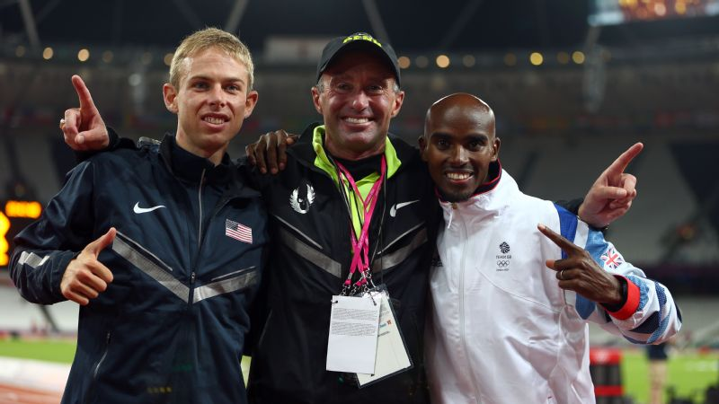 Alberto Salazar, center, is being investigated by the USADA for potentially violating anti-doping rules. Salazar allegedly provided substances to several prominent athletes, including four-time Olympic champion Mo Farah, right.