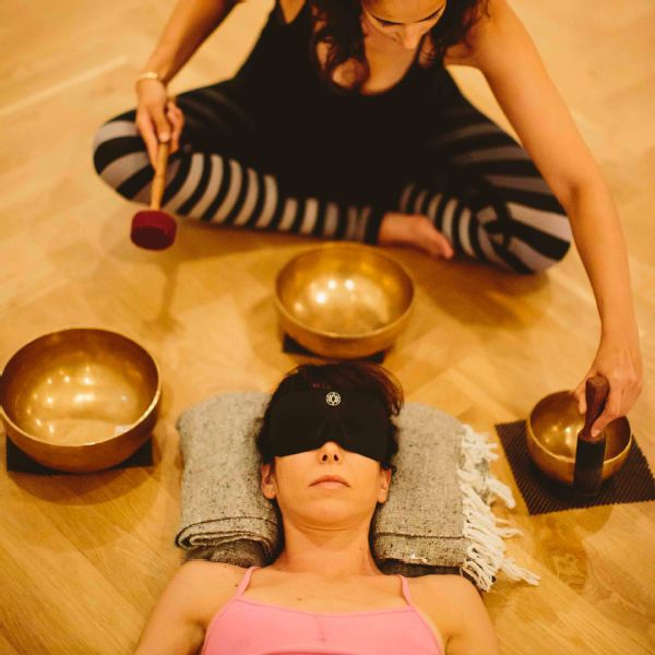 One part of the experience involves essential oils and soothing Xylophone-like music.