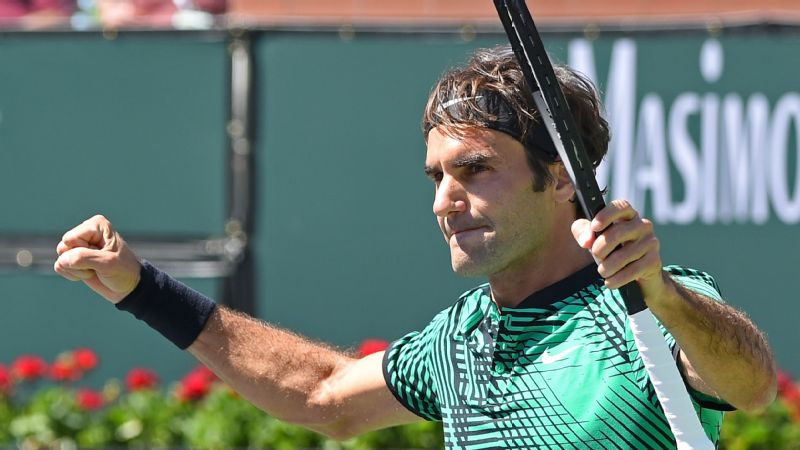 Roger Federer won his fifth Indian Wells title, tying Novak Djokovic for the most all time.