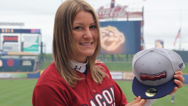 To freshen up the team's merchandise, Lindsey Knupp turned the Lehigh Valley IronPigs into bacon, literally.