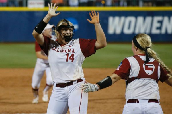 COLLEGE SOFTBALL: Florida tops Washington 5-2, advances to championship series