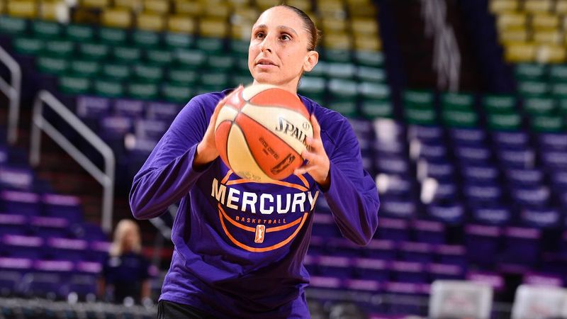 Diana Taurasi #3 of the Phoenix Mercury warms up before the game against the Chicago Sky on June 16, 2017 at Talking Stick Resort Arena in Phoenix, Arizona.