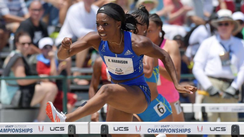 Keni Harrison will lead a sweep-minded U.S. hurdles team into the world championships.