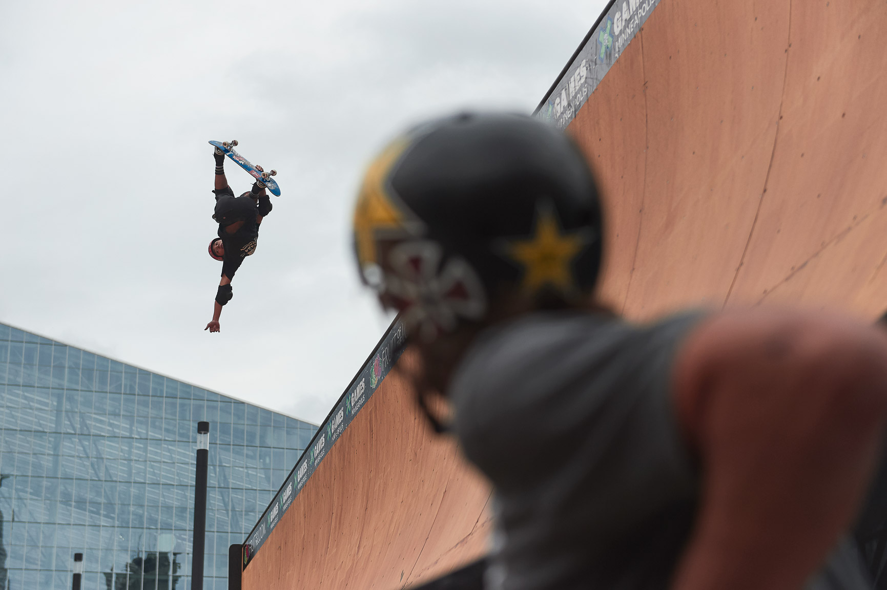 One day ago, Japanese vert skater Moto Shibata arrived at X Games Minneapolis 2017 and posed for a photo on the deck of the vert ramp, unaware of the future. When game time came, Shibata delivered three runs in Skateboard Vert that demonstrated a changing of the guard in the vert ranks. He's now an X Games gold medalist and leading the pack of young and hungry vert skaters at X Games.