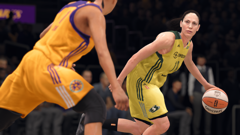NBA Live 18 will feature WNBA players. Many players, including Sue Bird, have had their full likenesses scanned into the game.