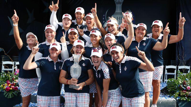 U.S. celebrates Solheim Cup
