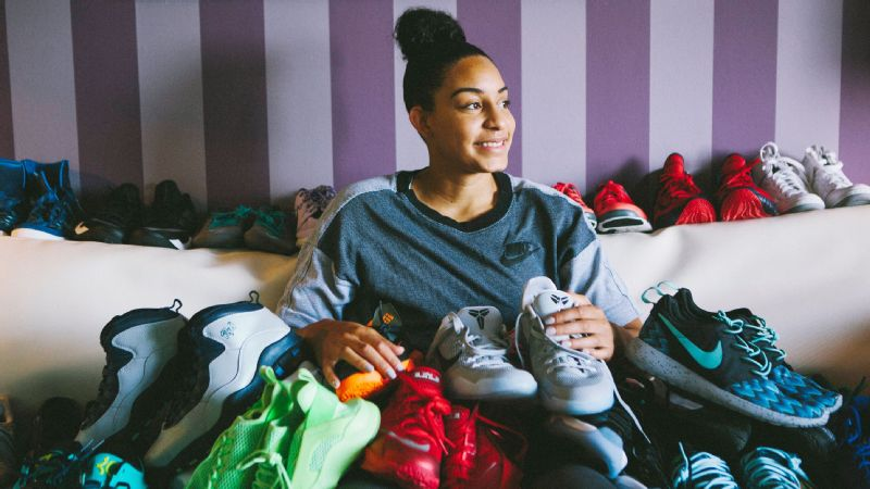 With a collection that boasts retro Jordans, limited edition KDs and LeBrons -- Bria Hartley can proudly proclaim herself a sneakerhead.