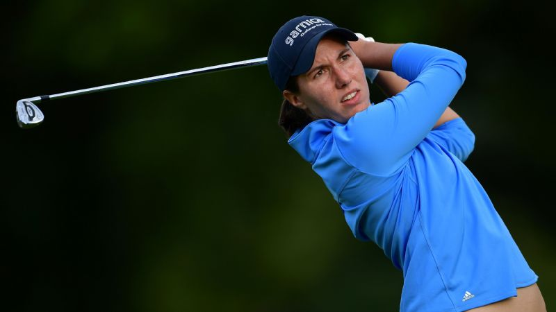 Carlota Ciganda, pictured, and Azahara Munoz both carded 67s in third round to top the leaderboard at the Andalucia Costa del Sol Open.