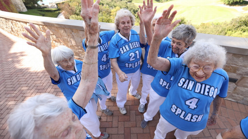 The Splash Sisters, a basketball team of women in their 80s and 90s, reminded us to stay young and keep moving at the espnW: Women  Sports Summit.