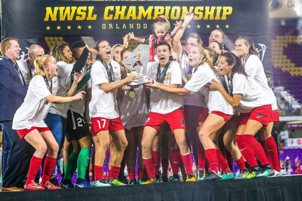 The Thorns are the first NWSL team to win both the Supporters' Shield and the championship in the same season.