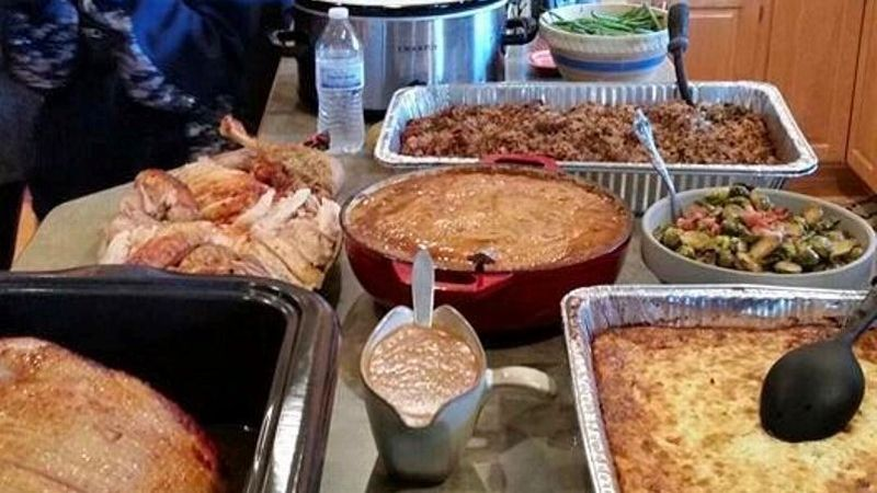 A recent Thanksgiving spread from the last time Gwen Jorgensen hosted her family.