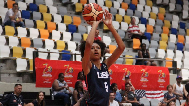 Olivia Nelson-Ododa averaged a team-high 12.0 points and 9.4 rebounds and won a bronze medal with Team USA at the 2016 FIBA U17 World Championship in Spain.