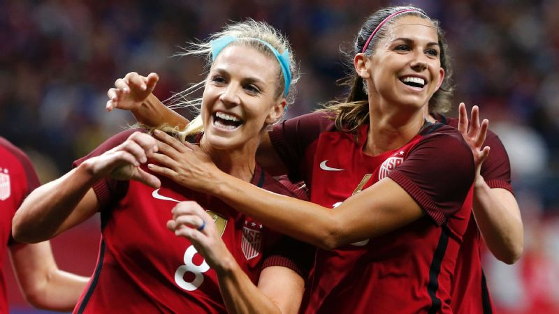 Julie Ertz and Alex Morgan