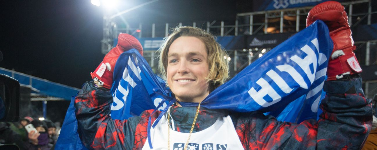 Wearing his red fighting gloves, James hopes to land back-to-back X Games golds.