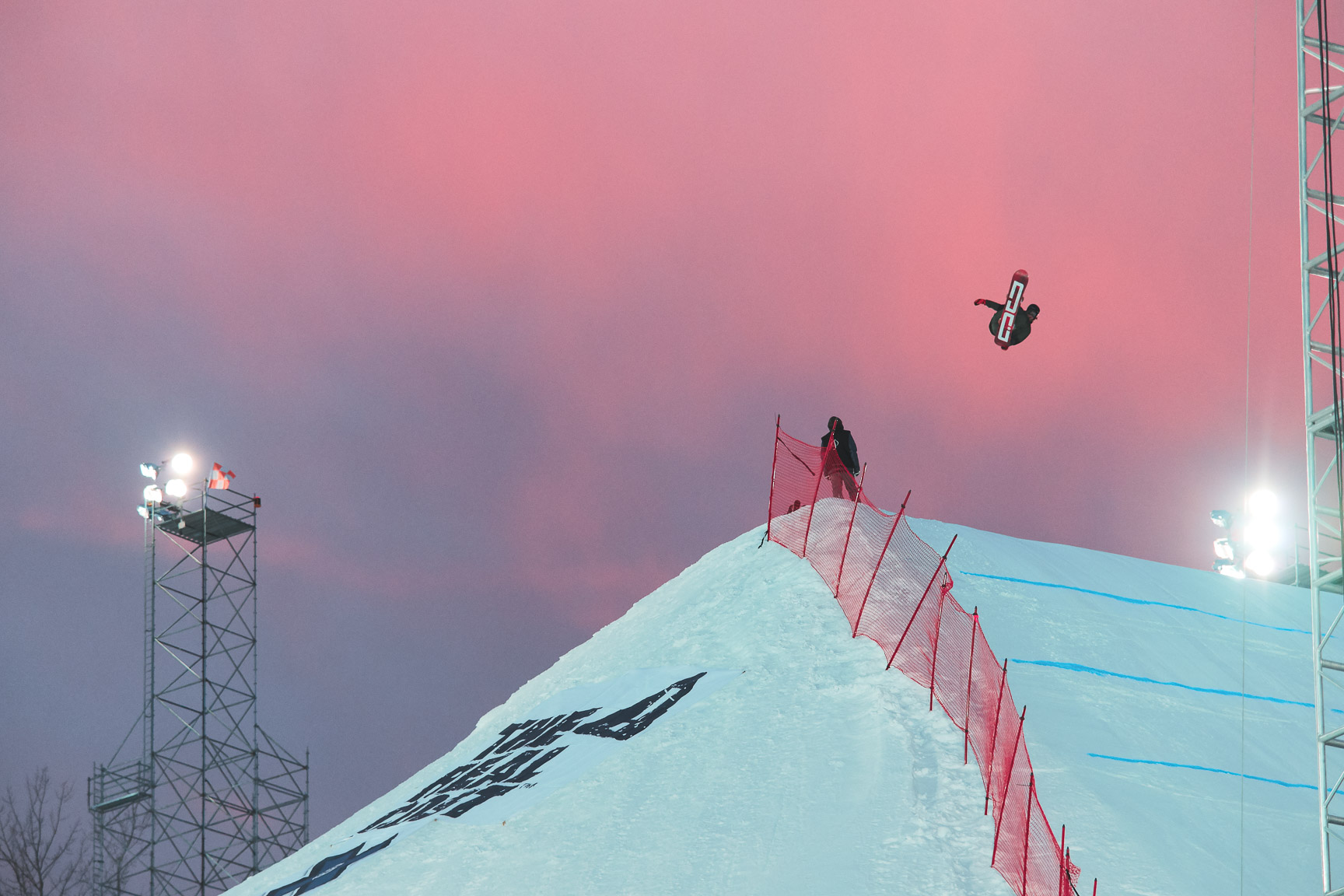 Sebbe De Buck, Men's Snowboard Big Air practice