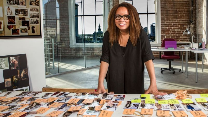 Ruth E. Carter, Black Panther costume designer, in her studio.
